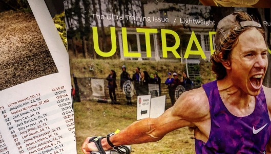 Race results featured in the Ultrarunning magazine!